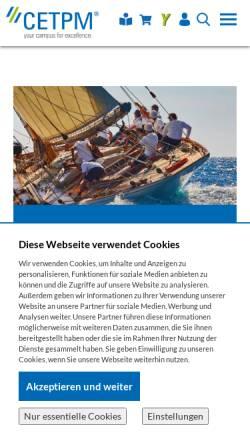 Vorschau der mobilen Webseite www.cetpm.de, Centre of Excellence for TPM