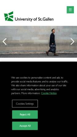 Vorschau der mobilen Webseite www.mba.unisg.ch, Universität St. Gallen