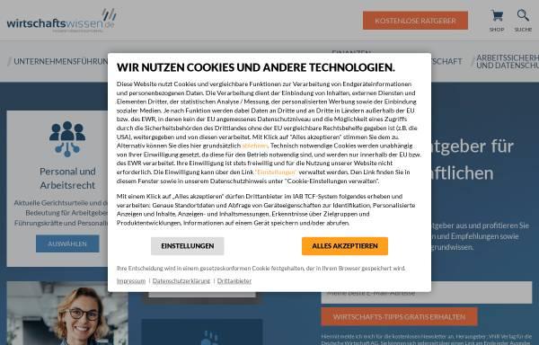 Vorschau von www.vorgesetzter.de, Führungswissen für Vorgesetzte - Fachverlag für Recht und Führung