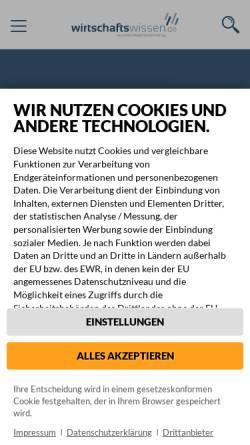 Vorschau der mobilen Webseite www.vorgesetzter.de, Führungswissen für Vorgesetzte - Fachverlag für Recht und Führung