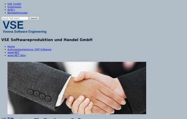 Vorschau von www.vse.at, VSE Softwareproduktion und Handel GmbH