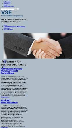 Vorschau der mobilen Webseite www.vse.at, VSE Softwareproduktion und Handel GmbH