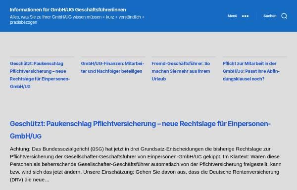Vorschau von www.gmbh-gf.de, GmbH-GF.de - Volkelt Brief