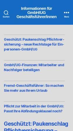 Vorschau der mobilen Webseite www.gmbh-gf.de, GmbH-GF.de - Volkelt Brief