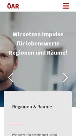 Vorschau der mobilen Webseite www.oear.at, ÖAR-Regionalberatung Ges.m.b.H.