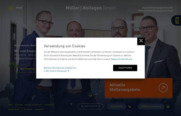Vorschau von www.muellerundkollegen.de, Müller & Kollegen Steuerberatungsgesellschaft GmbH