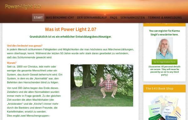 Vorschau von www.power-light-seminare.de, Karma Singh und Mara Ohm