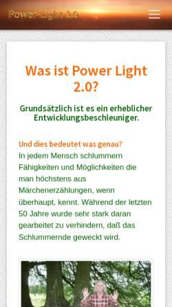Vorschau der mobilen Webseite www.power-light-seminare.de, Karma Singh und Mara Ohm