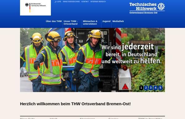 Vorschau von www.thw-bremen-ost.de, THW Ortsverband Bremen-Ost