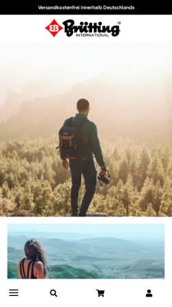 Vorschau der mobilen Webseite www.bruetting-sport.com, Brütting & Co. Eb-Sport-International-GmbH