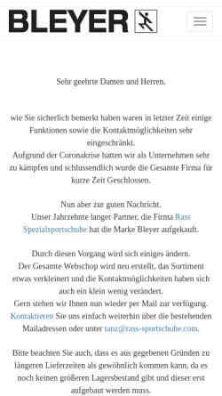 Vorschau der mobilen Webseite www.bleyergmbh.com, R. Bleyer GmbH & Co.