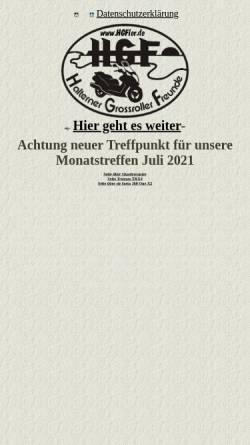 Vorschau der mobilen Webseite www.hgfler.de, Halterner Grossroller Freunde