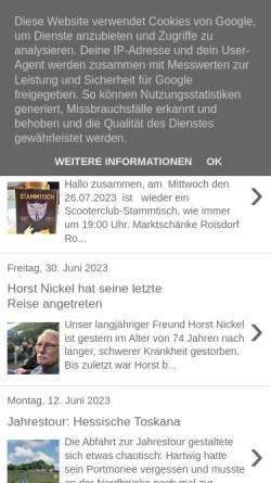 Vorschau der mobilen Webseite www.scooterclub-bonn.blogspot.de, Scooterclub Bonn