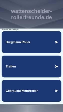 Vorschau der mobilen Webseite www.wattenscheider-rollerfreunde.de, Wattenscheider-Rollerfreunde