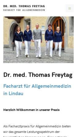 Vorschau der mobilen Webseite www.inseldoc.de, Freytag, Dr. med Thomas