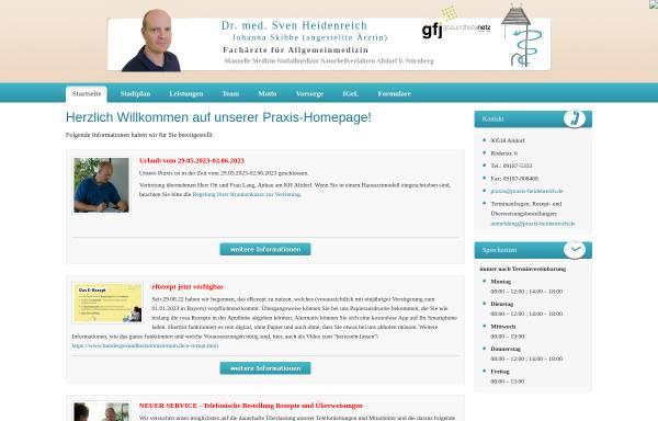 Vorschau von www.praxis-heidenreich.de, Heidenreich, Dr. med. Sven