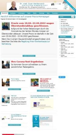 Vorschau der mobilen Webseite www.praxis-heidenreich.de, Heidenreich, Dr. med. Sven