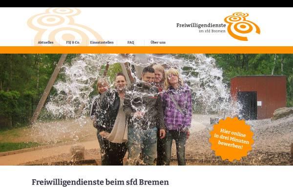 Vorschau von www.sfd-bremen.de, SFD - Sozialer Friedensdienst Bremen e.V.