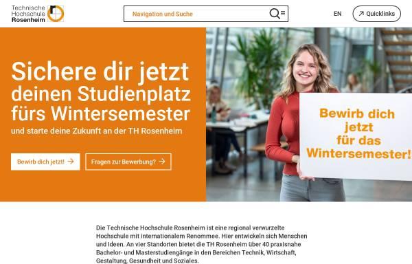 Vorschau von www.fh-rosenheim.de, Fachhochschule Rosenheim