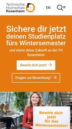 Vorschau der mobilen Webseite www.fh-rosenheim.de, Fachhochschule Rosenheim