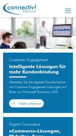 Vorschau der mobilen Webseite www.connectiv.de, Connectiv! eSolutions GmbH
