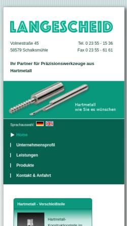 Vorschau der mobilen Webseite www.langescheid.de, Eugen Langescheid