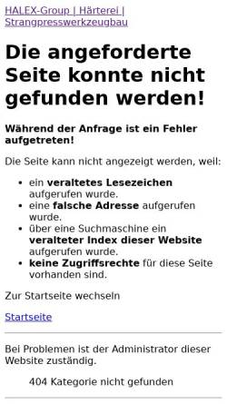 Vorschau der mobilen Webseite www.halex-group.de, Händle Härterei GmbH & Co.