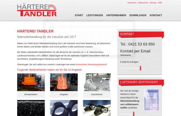 Vorschau von www.haerterei-tandler.de, Härterei Tandler GmbH & Co. KG