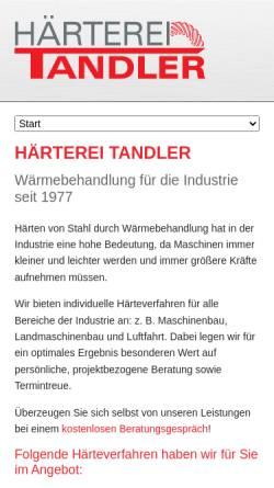 Vorschau der mobilen Webseite www.haerterei-tandler.de, Härterei Tandler GmbH & Co. KG