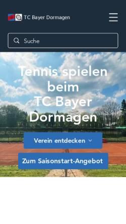 Vorschau der mobilen Webseite www.tc-bayer-dormagen.de, TC Bayer Dormagen e.V.