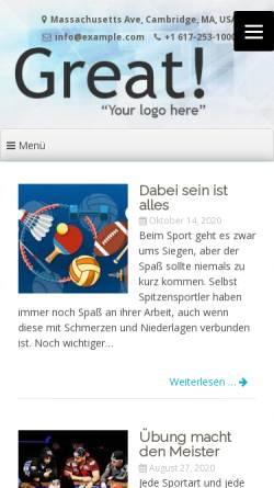 Vorschau der mobilen Webseite www.lvn-kreis-kleve.de, Leichtathletik-Verband Nordrhein, Kreis Kleve