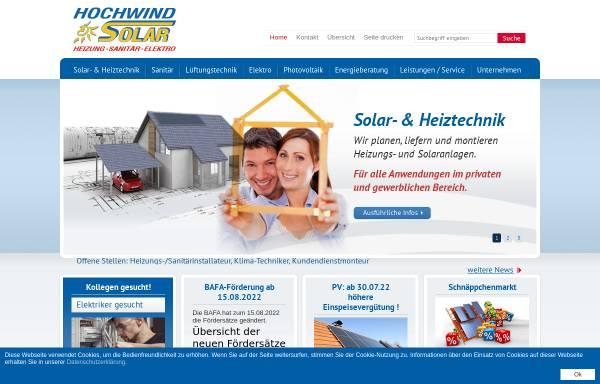 Vorschau von www.hochwind-solar.de, Claus Hochwind Energietechnik GmbH & Co. KG