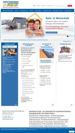 Vorschau der mobilen Webseite www.hochwind-solar.de, Claus Hochwind Energietechnik GmbH & Co. KG