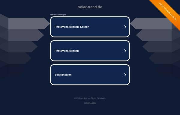 Vorschau von www.solar-trend.de, Solar Trend GmbH