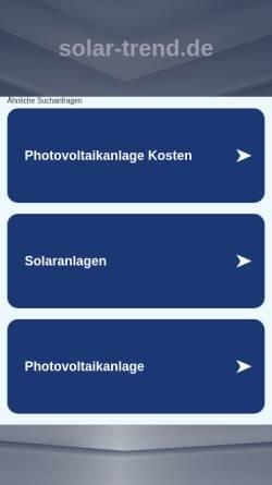 Vorschau der mobilen Webseite www.solar-trend.de, Solar Trend GmbH