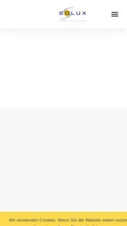 Vorschau der mobilen Webseite www.solux.de, Solux GmbH