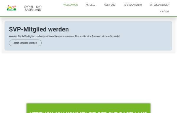Vorschau von www.svp-baselland.ch, Schweizerische Volkspartei Baselland - SVP