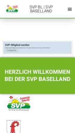 Vorschau der mobilen Webseite www.svp-baselland.ch, Schweizerische Volkspartei Baselland - SVP