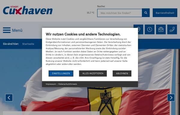 Vorschau von www.cuxhaven.de, Stadt Cuxhaven