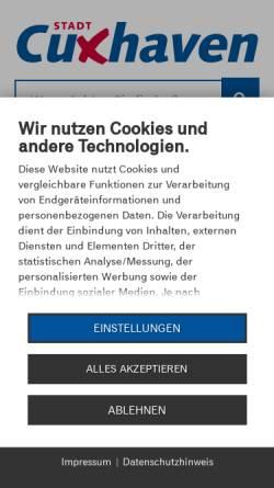 Vorschau der mobilen Webseite www.cuxhaven.de, Stadt Cuxhaven