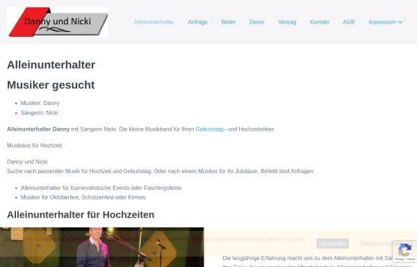 Vorschau von www.danny-co.de, Alleinunterhalter Danny
