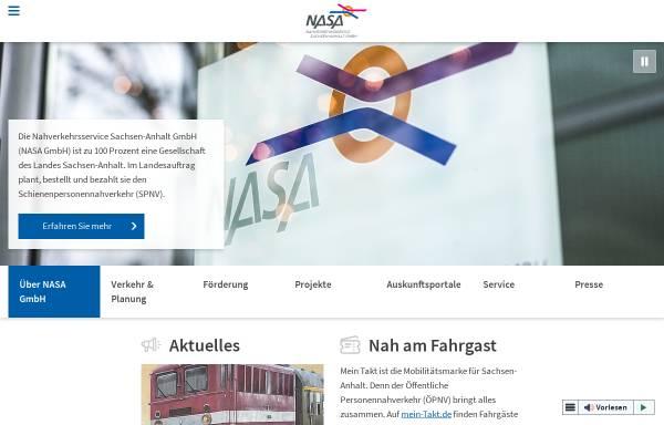 Vorschau von www.nasa.de, Nahverkehrsservice Sachsen-Anhalt GmbH (NASA)