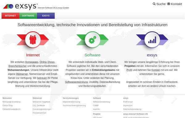 Vorschau von www.exsys.net, Exsys Internet+Software UG (haftungsbeschränkt)