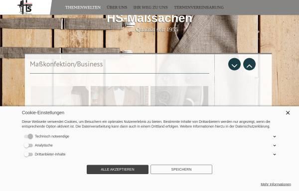 Vorschau von www.hs-masssachen.de, Hs Maßsachen