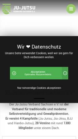 Vorschau der mobilen Webseite www.jjsn.de, Sächsischer Ju-Jutsu Verband e.V.
