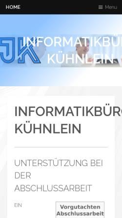 Vorschau der mobilen Webseite www.jkinformatik.de, Kühnlein Informatikbüro