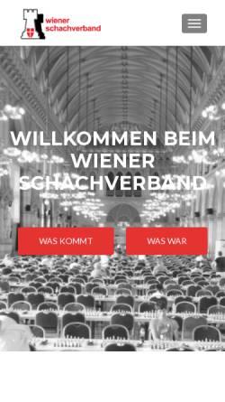 Vorschau der mobilen Webseite www.chess-vienna.at, Wiener Schachverband