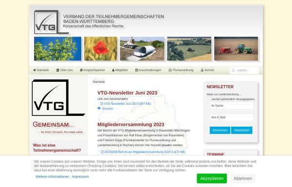 Vorschau von www.vtg-bw.de, Verband der Teilnehmergemeinschaften Baden-Württemberg (VTG)