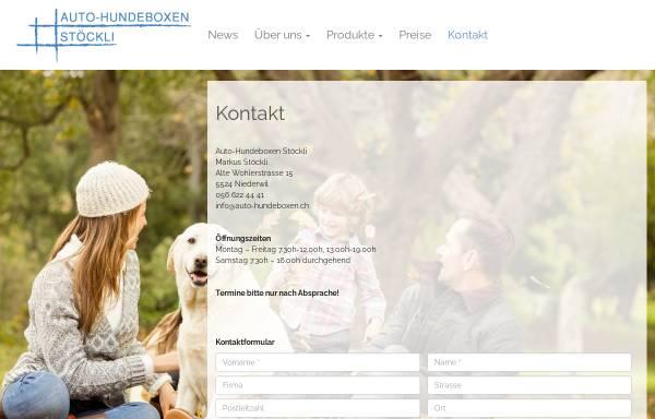 Vorschau von www.auto-hundeboxen.ch, Auto-Hundeboxen von Stöckli