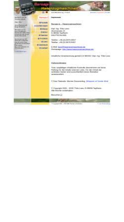 Vorschau der mobilen Webseite www.hasenzugmaschinen.de, Barsaja E. - Hasenzugmaschinen